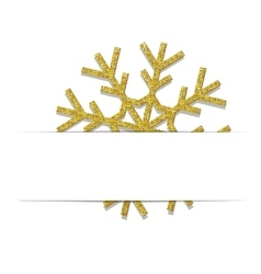 Golden Christmas snowflake vector image