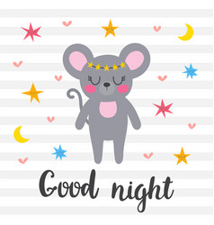good night inspirational quote hand drawn vector image