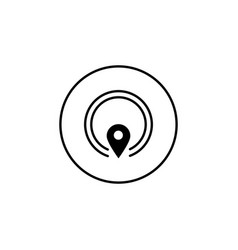 gps solid icon mobile sign and map pointer vector image