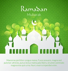 Greeting card with mosque vector