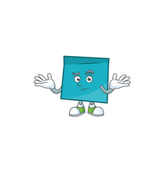 Grinning rectangle sticker paper character vector