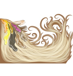 Hair dye vector