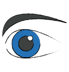 Human eye optical eyeball symbol vector