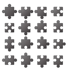 Jigsaw icons vector