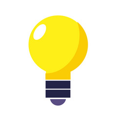 light bulb energy object style vector image