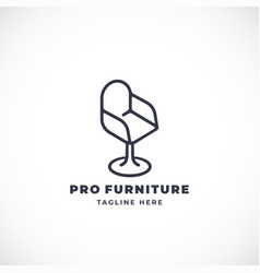 line style abstract furniture sign symbol vector image