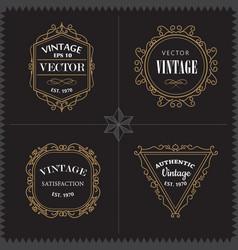 luxury logos set template vintage badge frame vector image