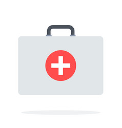 medicine chest flat material design isolated vector image