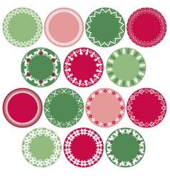nordic circle labels vector image