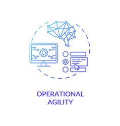 Operational agility blue gradient concept icon vector