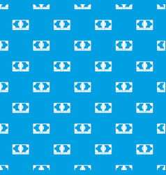 packed dollars money pattern seamless blue vector image