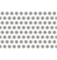 pattern from abstract black-white flower vector image