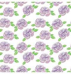 pattern purple flowers roses vector image