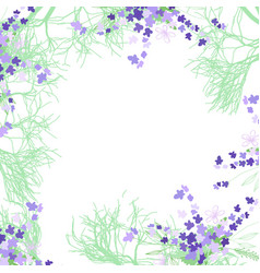Pattern with summer flowers and leaves on a white vector