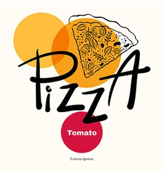 Pizza design menu template vector image