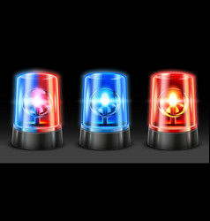 realistic ambulance flashing police light flasher vector image