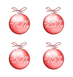 Red sale balls vector image