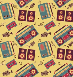 Retro music pattern vector