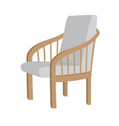 Scandinavian style modern gray armchair vector