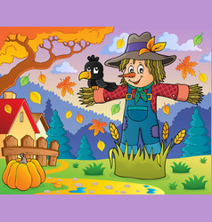 scarecrow theme image 2 vector image