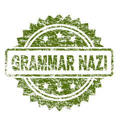 Scratched textured grammar nazi stamp seal vector