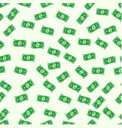 seamless pattern of the banknote cash money dollar vector image