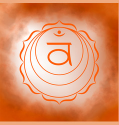 second sacral chakra - swadhisthana vector image