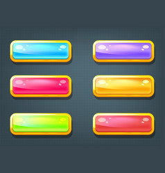set of game colorful buttons vector image