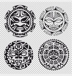 Set of tribal masks vector