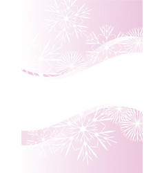 Snowflakes abstract pink backdrop vector