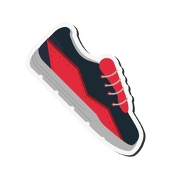 Sport sneakers icon vector