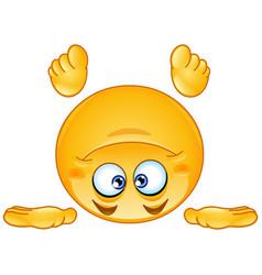 standing on head emoticon vector image