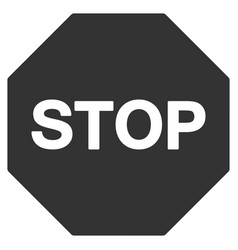 stop sign flat icon vector image