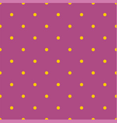 Tile pattern with yellow polka dots on dark violet vector