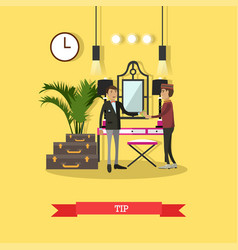 tip concept in flat style vector image
