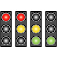 Traffic light Variants vector