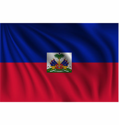 Waving haiti vector
