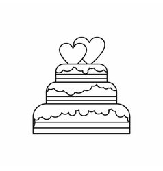 Wedding cake icon outline style vector