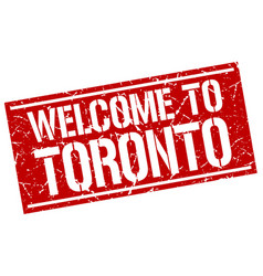 Welcome to toronto stamp vector