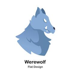 Werewolf flat icon vector