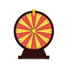wheel of fortune gambling vector image