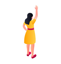 woman hand up icon isometric style vector image