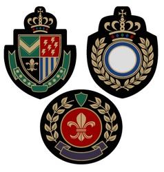 badge shield vector image vector image