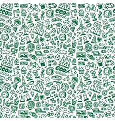 Ecology - seamless background vector