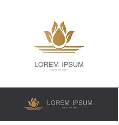 flower gold logo vector image vector image