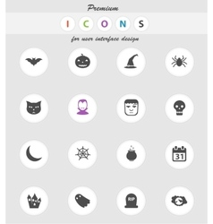 Halloween simply icons vector image vector image