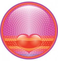 heart internet button vector image vector image