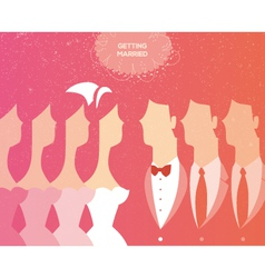 wedding ceremony invitation vector image vector image