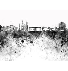 Minsk skyline in black watercolor on white vector image vector image