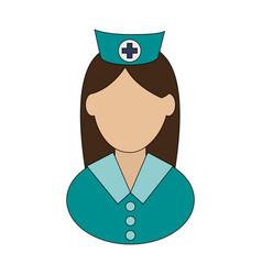 nurse avatar icon image vector image vector image